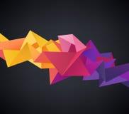 Wektorowy abstrakcjonistyczny kryształ 3d faceted geometrycznego origami tęczy tło Zdjęcia Stock