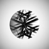 Wektorowy abstrakcjonistyczny monochromu wzoru linii techno eps Zdjęcie Royalty Free