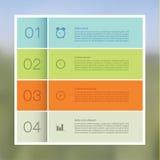 Wektorowy abstrakcjonistyczny mozaiki tło. Infographic szablon z śliwkami Obraz Royalty Free