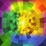 Wektorowy abstrakcjonistyczny opromieniony multicolor tunel Zdjęcia Stock
