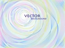 Wektorowy abstrakcjonistyczny pastelowy koncentryczny tło Fotografia Stock