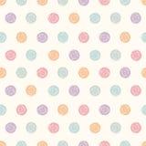 Wektorowy abstrakcjonistyczny polki kropki bezszwowy wzór Obrazy Stock