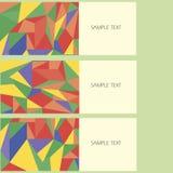 Wektorowy abstrakcjonistyczny projekta sztandaru sieci szablon Fotografia Stock