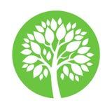 Wektorowy abstrakcjonistyczny round embema - symboliczny drzewo Obrazy Stock