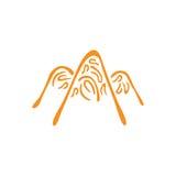 Wektorowy abstrakcjonistyczny symbol góra Halni szczyty w lodowym abstrakcie Obrazy Stock