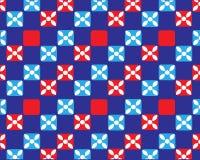 Wektorowy abstrakcjonistyczny tło symetryczni kolorów kwadraty ilustracja wektor