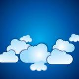 Wektorowy abstrakcjonistyczny tło komponujący białe chmury Zdjęcia Stock