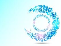 Wektorowy abstrakcjonistyczny tło pokazuje innowację technologia i technologii pojęcia Zdjęcie Stock