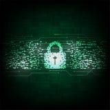 Wektorowy abstrakcjonistyczny tło technologii ochrony pojęcie Zdjęcie Royalty Free