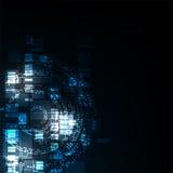 Wektorowy abstrakcjonistyczny tło technologii pojęcie Obrazy Stock