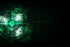 Wektorowy abstrakcjonistyczny tło technologii pojęcie Obraz Stock
