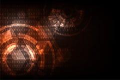 Wektorowy abstrakcjonistyczny tło technologii pojęcie Zdjęcie Royalty Free