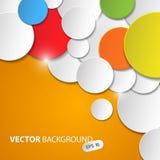 Wektorowy abstrakcjonistyczny tło z kolorowymi okręgami Zdjęcia Stock