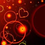Wektorowy abstrakcjonistyczny tło. Ognisty serce. Obrazy Royalty Free