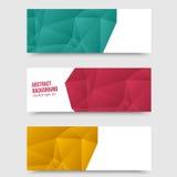 Wektorowy abstrakcjonistyczny tło. Origami wielobok Zdjęcia Royalty Free