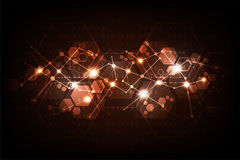 Wektorowy abstrakcjonistyczny tło technologii sieci projekt Zdjęcia Royalty Free