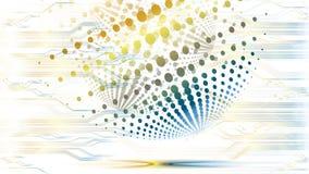Wektorowy abstrakcjonistyczny technologiczny kolorowy globalny tło Obrazy Stock