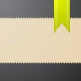 Wektorowy abstrakcjonistyczny textured tło z zielonym bookmark Obrazy Royalty Free