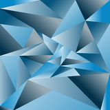 Wektorowy abstrakcjonistyczny triangulated tło Błękitny triangulated backg ilustracji