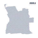 Wektorowy abstrakt kluł się mapę Angola odizolowywał na białym tle Obrazy Stock