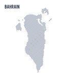 Wektorowy abstrakt kluł się mapę Bahrajn z pochylonymi liniami odizolowywać na białym tle ilustracja wektor