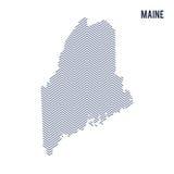 Wektorowy abstrakt kluł się mapę stan Maine odizolowywał na białym tle Obraz Stock