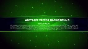 Wektorowy abstrakt zieleni tło z linią dla teksta Zdjęcia Stock