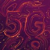 Wektorowy abstrakta 5G połączenie z internetem nowy bezprzewodowy tło Globalnej sieci prędkości wysoka sieć Abstrakcjonistyczny 5 ilustracji