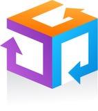Wektorowy abstrakta logo ikona/- 9 Obrazy Royalty Free