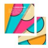 Wektorowy abstrakta papieru kwadrat kształtuje tło Obraz Royalty Free