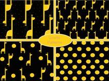 Wektorowy abstrakta wzór ustawiający z żyrafami Obrazy Stock