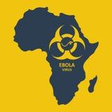 Wektorowy Africa i ebola wirus Fotografia Stock