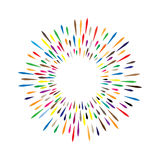 Wektorowy akwarela wianek z kolorowymi tęcz kroplami farby sp Obraz Royalty Free