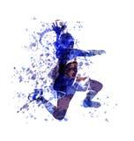 Wektorowy akwareli nakreślenie handball gracz Fotografia Stock