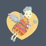 Wektorowy anioł Fotografia Stock
