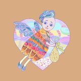 Wektorowy anioł Zdjęcie Royalty Free