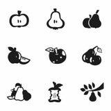 Wektorowy Apple i bonkrety ikony set Fotografia Royalty Free