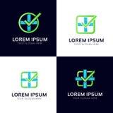 Wektorowy apteka logotyp Abstrakcjonistyczny medyczny firma znak Zdjęcia Royalty Free