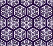 Wektorowy Arabski bezszwowy wzór z kwiecistymi elementami Zdjęcie Royalty Free