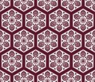 Wektorowy Arabski bezszwowy wzór z kwiecistymi elementami Fotografia Royalty Free