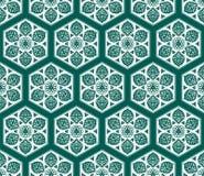 Wektorowy Arabski bezszwowy wzór z kwiecistymi elementami Obraz Royalty Free
