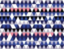 Wektorowy błękitów, grays i różowych geometrycznych kształtów bezszwowy deseniowy tło, ilustracja wektor