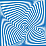 Wektorowy błękitny i biały abstrakcjonistyczny złudzenia tło Ilustracji
