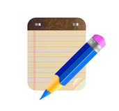 Wektorowy błękitny ołówek Zdjęcia Royalty Free