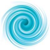Wektorowy błękitny wiruje tło ilustracji