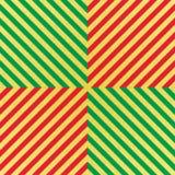 Wektorowy błyskotliwy bezszwowy wzór z złota, czerwieni i zieleni lampasami, Szewronu tło Zdjęcia Royalty Free