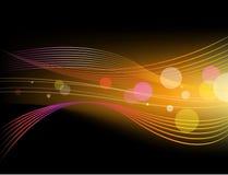 Wektorowy błyszczący abstrakcjonistyczny horyzontalny tło ilustracja wektor