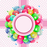 Wektorowy balonu przyjęcie Zdjęcie Stock