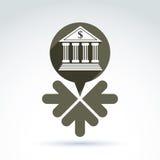 Wektorowy bankowość symbol, źródła dochodów pojęcie Obrazy Stock