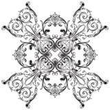 Wektorowy barokowy ornament w wiktoriański stylu Zdjęcie Royalty Free